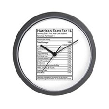 Nutrition Facts For 1L Wall Clock