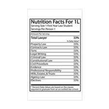Nutrition Facts For 1L Rectangle Decal