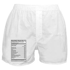 Nutrition Facts For 1L Boxer Shorts