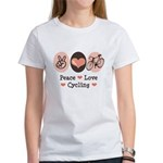 Bicycle Peace Love Cycling Women's T-Shirt