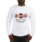 Bicycle Peace Love Cycling Long Sleeve T-Shirt