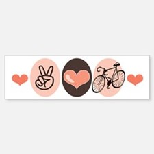 Bicycle Peace Love Cycling Bumper Bumper Bumper Sticker