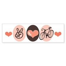 Bicycle Peace Love Cycling Bumper Bumper Sticker