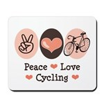Bicycle Peace Love Cycling Mousepad
