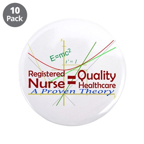 """RN = Quality Healthcare 3.5"""" Button (10 pack)"""