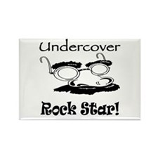 Undercover Rock Star Rectangle Magnet
