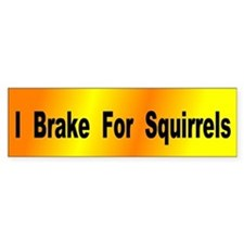 I Brake for Squirrels Bumper Bumper Sticker