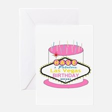 Las Vegas Birthday Cake Greeting Card
