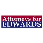 Attorneys for Edwards bumper sticker