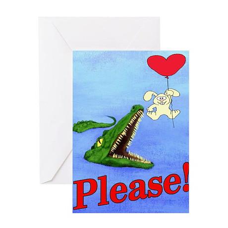 Alligator Valentine Greeting Card
