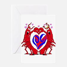 Crawfish Valentine Greeting Card
