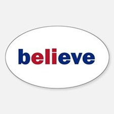 Believe Oval Decal