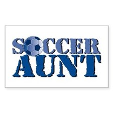 Soccer Aunt Rectangle Decal