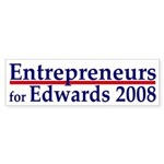 Entrepreneurs for Edwards bumper sticker