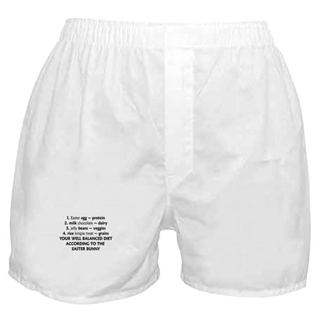 Easter Bunny Diet Boxer Shorts