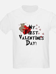 First Valentine's Bear Heart T-Shirt