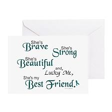 Lucky Me 1 (Best Friend OC) Greeting Card