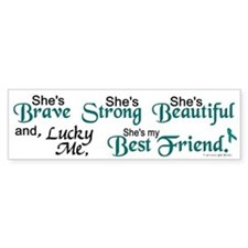 Lucky Me 1 (Best Friend OC) Bumper Car Sticker