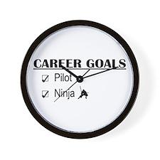 Pilot Career Goals Wall Clock