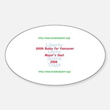 Buday for Vancouver Oval Decal