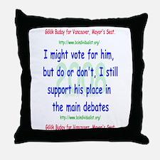 Buday for Vancouver Throw Pillow