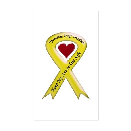 Yellow Ribbon Son-in-law Rectangle Sticker