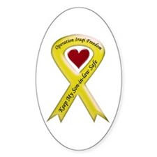 Yellow Ribbon Son-in-law Oval Decal