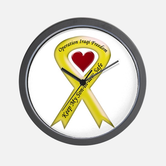 Yellow Ribbon Son-in-law Wall Clock