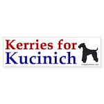 Kerries for Kucinich bumper sticker