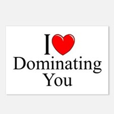 """I Love (Heart) Dominating You"" Postcards (Package"