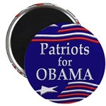 Patriots for Obama Fridge Magnet