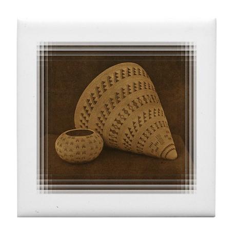 Washoe Baskets Tile Coaster