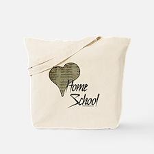 """I Love HomeSchool (with Hebrew Heart)"" Tote Bag"