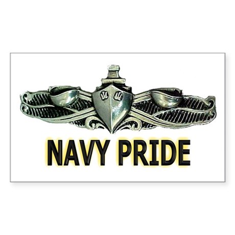 ESWS Navy PRIDE! Rectangle Sticker