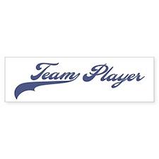 Team Player (Blue) Bumper Bumper Sticker