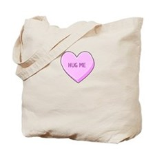 Hug Me Candy Heart Tote Bag