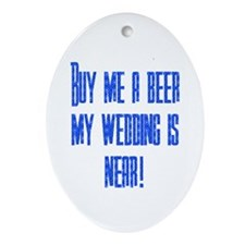 Buy Me A Beer Oval Ornament