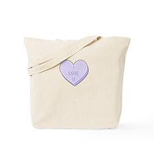 I Love You Candy Heart Tote Bag