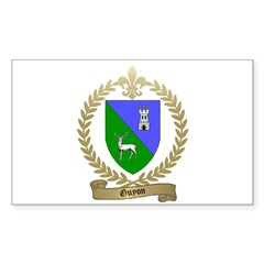 GUYON Family Crest Rectangle Decal