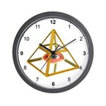 Pyramid Eye Wall Clock