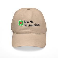 Kiss Me I'm American Baseball Cap