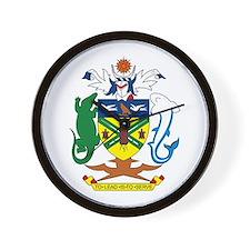 Solomon Islands Coat of Arms Wall Clock
