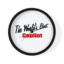 """The World's Best Copilot"" Wall Clock"
