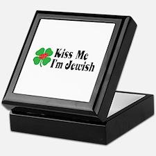 Kiss Me I'm Jewish Keepsake Box
