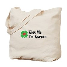Kiss Me I'm Korean Tote Bag