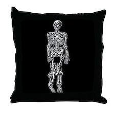 Spiny Skeleton Throw Pillow