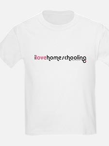 """""""i love homeschooling"""" T-Shirt"""