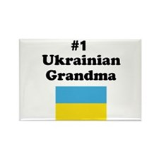 #1 Ukrainian Grandma Rectangle Magnet