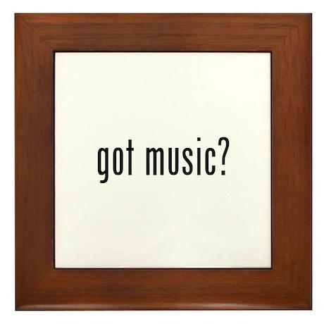 got music? Framed Tile