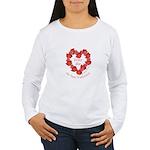 Spanish Rose Wreath on White Women's Long Sleeve T